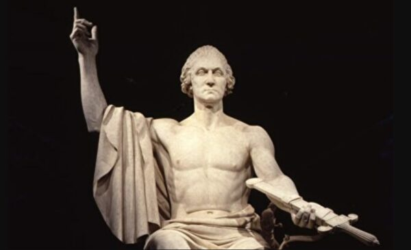"""美国古典艺术:霍雷肖·格里诺的""""乔治·华盛顿像"""""""
