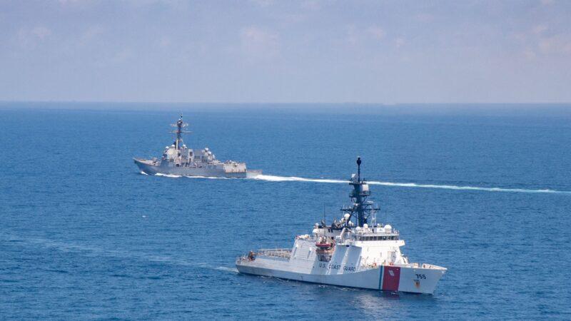 今年第8次 美軍雙艦通過台灣海峽