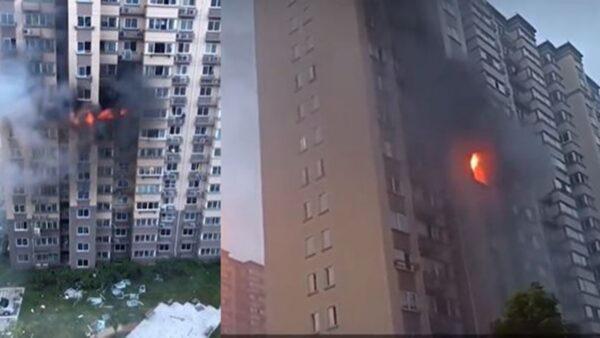 上海市住宅樓爆炸起火 一人墜樓死亡