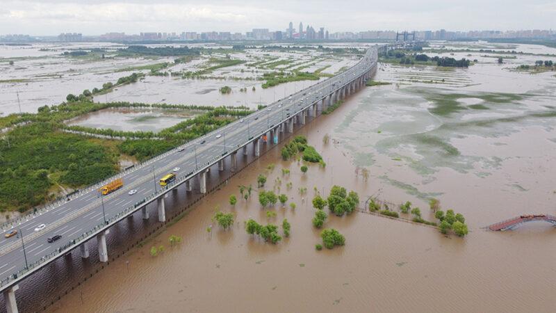 黑龙江5河水位超警戒 松花江升至3级预警