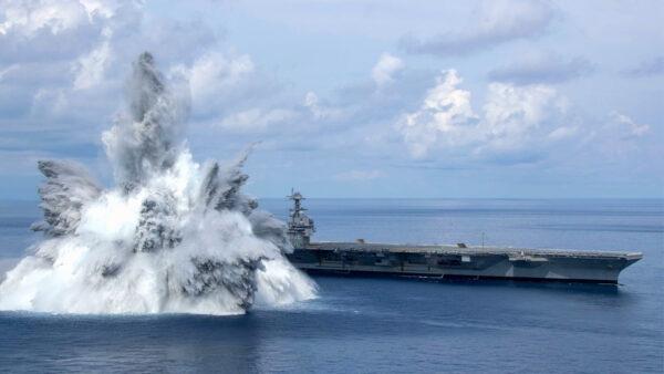 美最新航母完成全舰冲击试验 向中俄发强硬信号