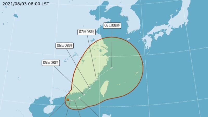 卢碧台风最快今生成 由广东偏东北行进