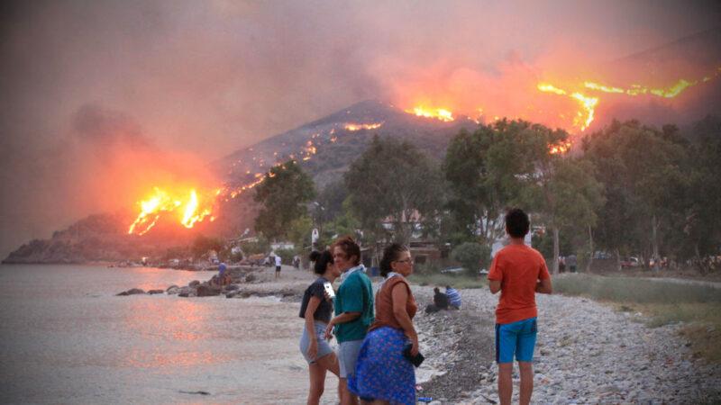 土耳其野火烧进火力发电厂 沿海村民紧急疏散