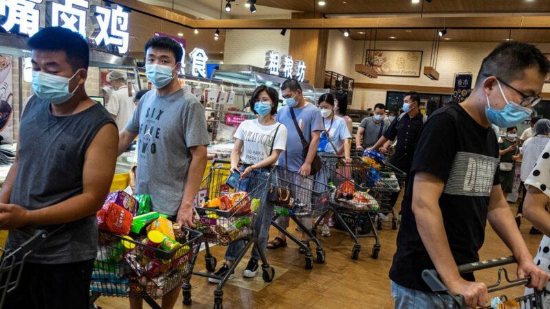 组图:武汉疫情再度爆发 民众恐慌 超市抢购