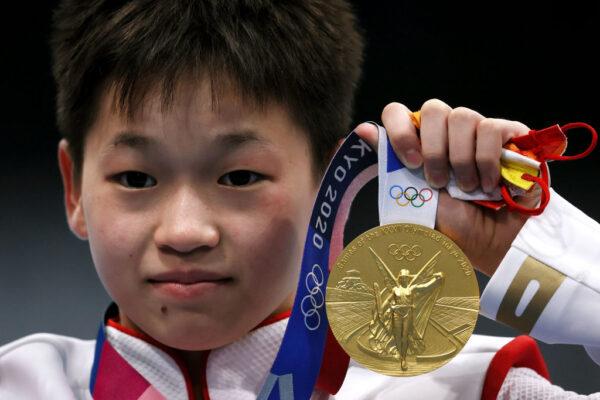 中国14岁女孩全红婵奥运夺金 贫穷率真令主旋律尴尬