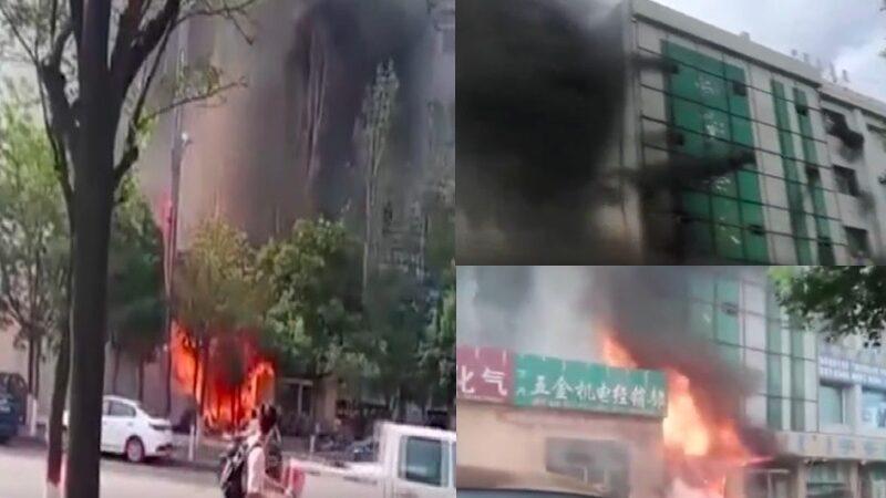 内蒙古鄂尔多斯商铺楼道起火 至少5死13伤(视频)