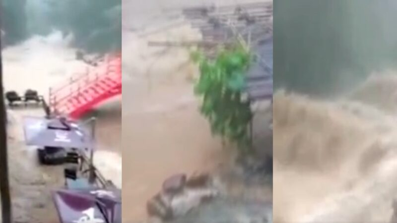 广东暴雨酿灾 清远街道成河 景区山洪爆发(视频)