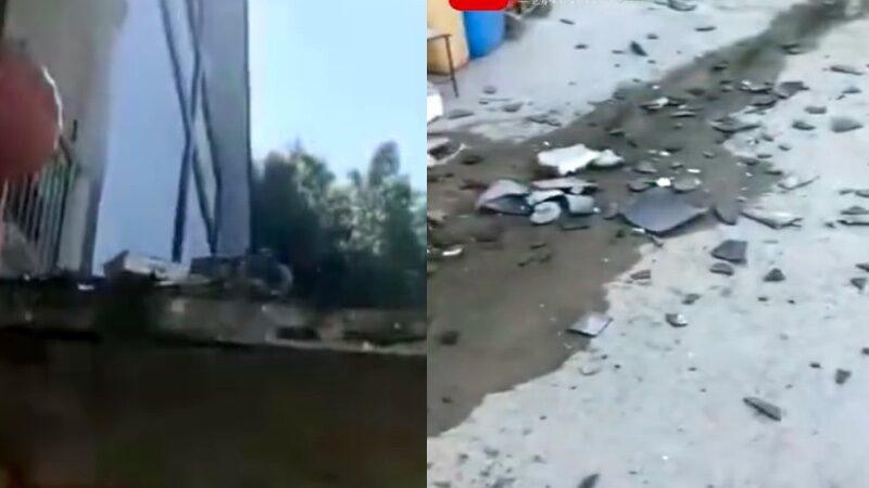贵州毕节4.5级地震 居民房屋瓦片被摇落(视频)