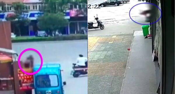 持锤子砸人 湖北荆州男子当街伤多人(视频)