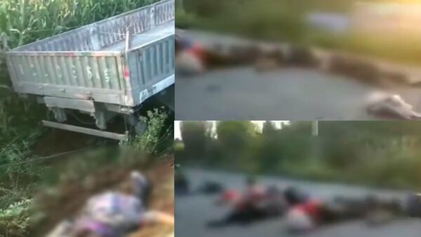牽引車與載17人三輪車相撞 河北車禍致5死多傷