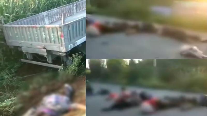牵引车与载17人三轮车相撞 河北车祸致5死多伤