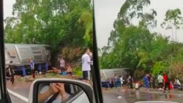 四川客車側翻23死傷 官方數字不統一