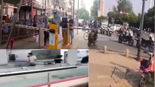 武汉疫情再起 多个小区封管 市民抢购物品