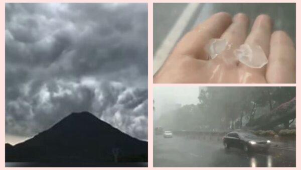 福州下「開水」加冰雹 網友:老天為疫情而哭泣