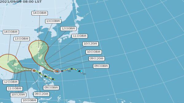 """极快速增强 台风""""璨树""""不排除直接登陆台湾"""