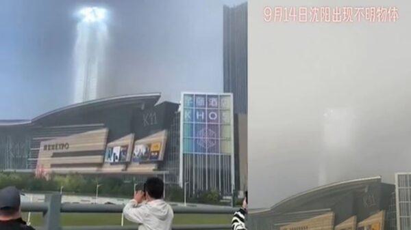 瀋陽驚現巨型「天梯」 網友:天地相通,奇觀!