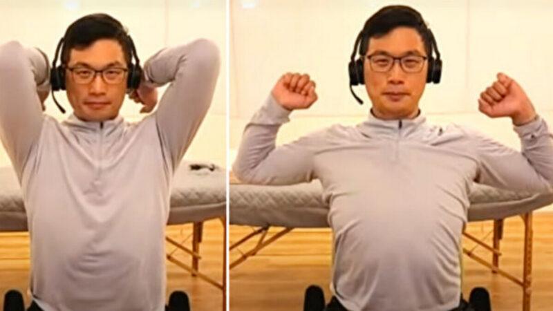 改善五十肩 2动作拉开紧绷的肩关节