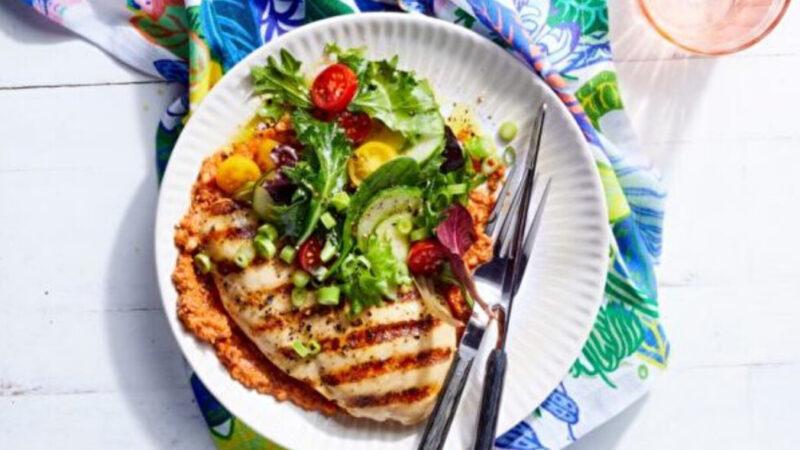雞肉和羅麥斯科醬一起烤 完美搭配