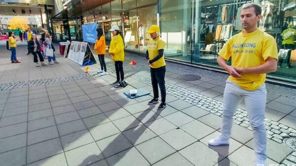 瑞典北雪平文化節 法輪功顯神奇