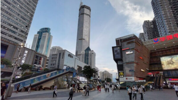 深圳赛格大厦桅杆拆除 恢复使用