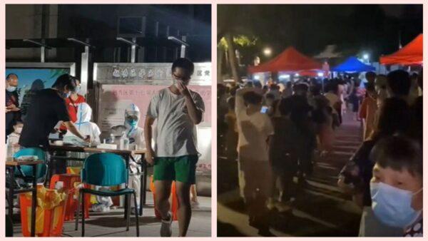 中秋节临近 广州再现疫情 市民连夜检测