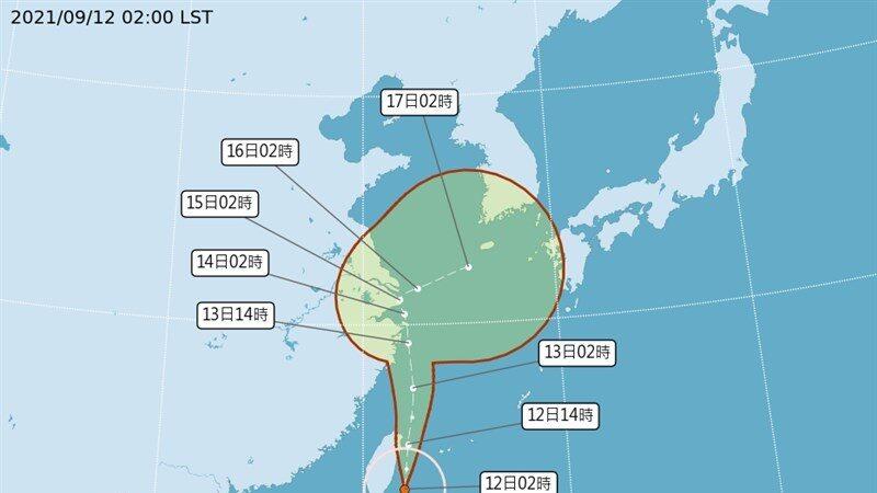 中颱璨樹北移 暴風圈籠罩全台 螺旋雨將影響西部
