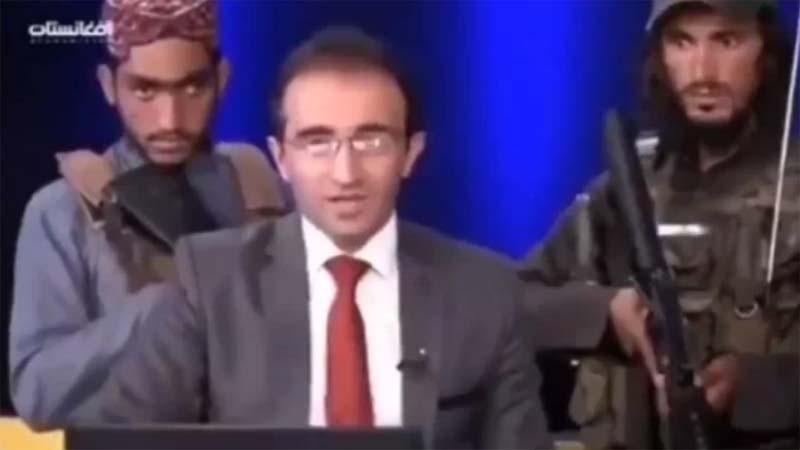 電視台主持與塔利班對談 7名持槍大漢貼身緊盯