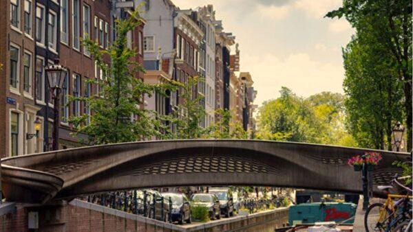 世界首座3D打印钢制桥梁 在荷兰落成启用