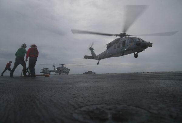 美林肯號航母直升機墜海 1獲救5失蹤