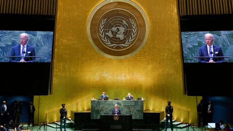 阿富汗联合国大会闹双胞 塔利班要求演说