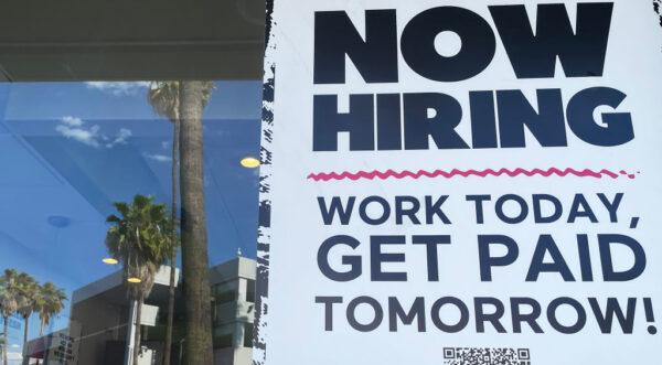 美申请失业金人数降至疫情后新低 劳动力需求旺盛