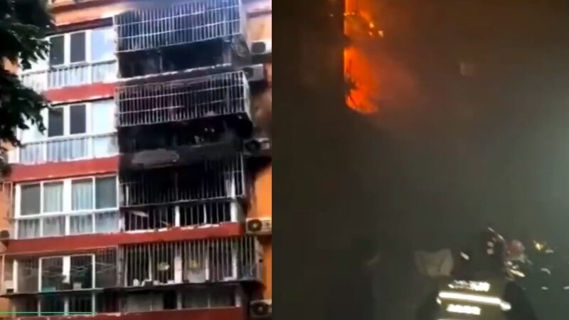 北京通州一小区火灾5人死亡 传死者为一家人(视频)