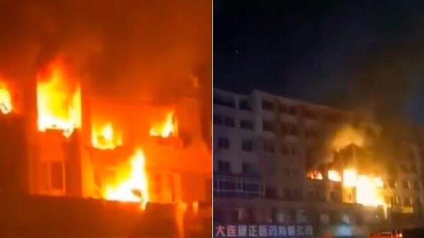 大连一住户家中爆燃8死5伤 大火伴着爆炸声(视频)