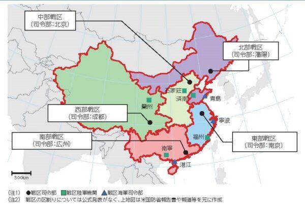 中共北部战区面对三个方向的防御捉襟见肘
