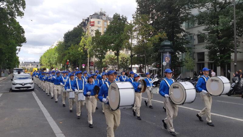組圖:歐洲法輪功學員巴黎大遊行 華人盛讚
