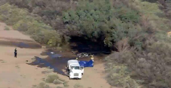 亞利桑那州兩機空中相撞 直升機墜毀爆炸2死