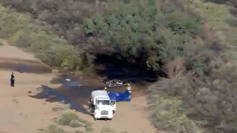 亚利桑那州两机空中相撞 直升机坠毁爆炸2死