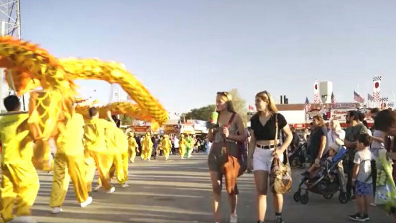 澳洲珀斯大型農展會 法輪功傳福音