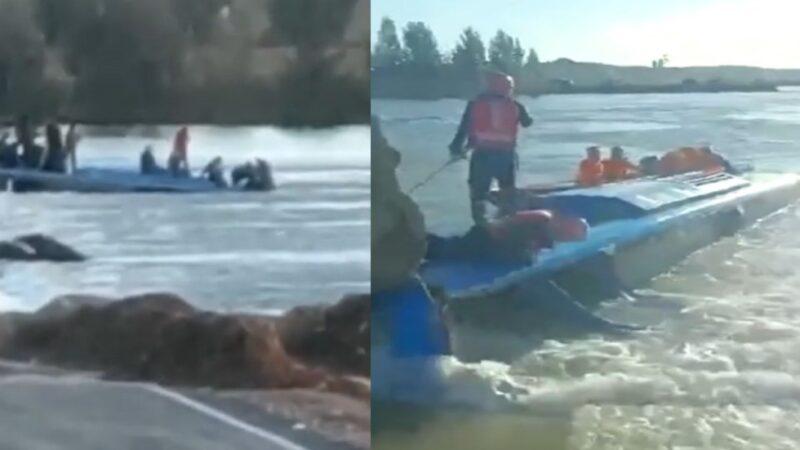 河北通勤车坠河致14死 涉事桥未设路卡受质疑