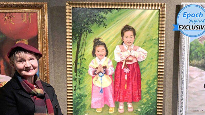 身经共产主义迫害 波兰女画家为中国儿童发声