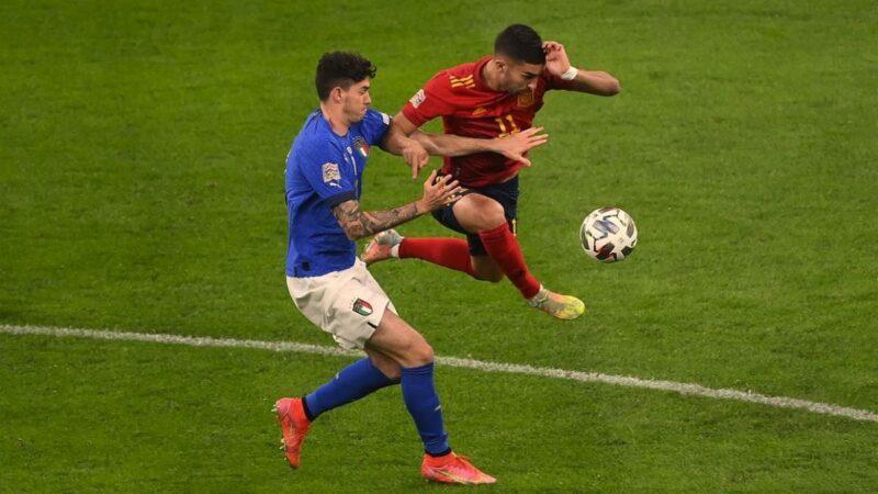 歐國聯半決賽 西班牙隊2:1勝10人意大利隊
