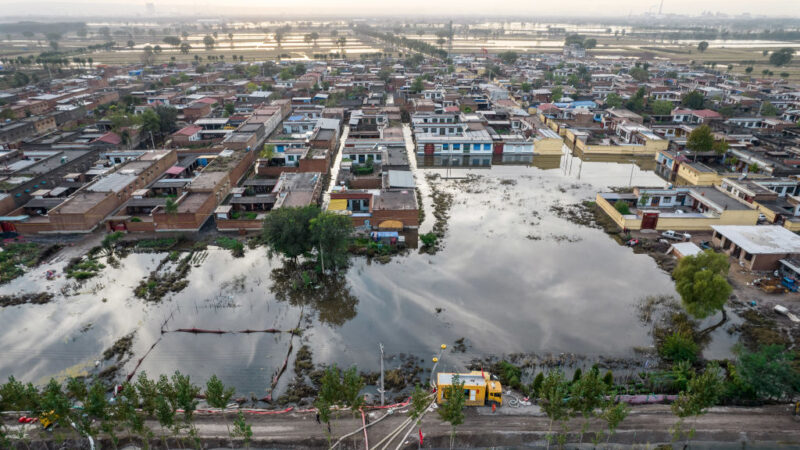 山西、陕西洪水百万人受灾 至少27人死亡