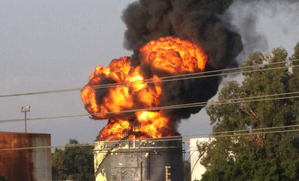 燃料短缺之際 黎巴嫩儲油槽又爆發大火