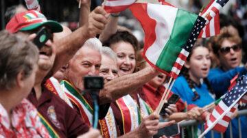 纽约哥伦布日大游行 法轮大法队伍备受瞩目