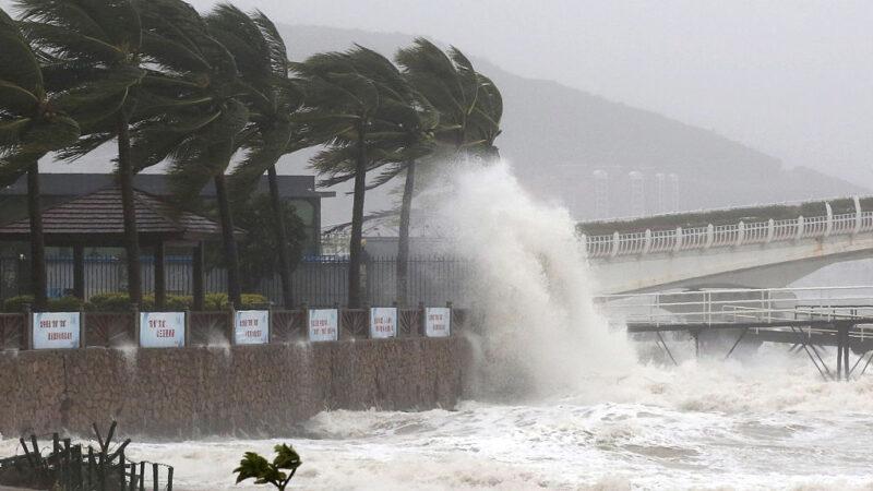 颱風「圓規」登陸海南 三亞全市公交停運(視頻)