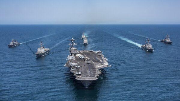 """美日印澳""""对话""""后首次军演 航母出动震慑中共"""