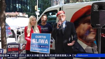 助選貨車關愛上路 紐約市長候選人傳遞愛心
