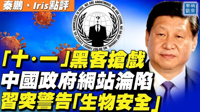 """【秦鹏直播】""""十·一""""黑客抢戏 中国政府网站沦陷"""