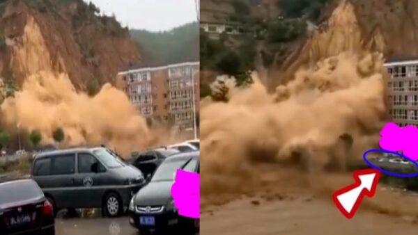 山西臨汾山體滑坡汽車瞬間被埋 4名交警死亡